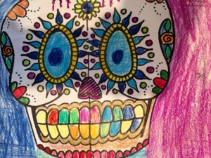 Day of Dead drawing