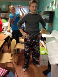 7th-8th grade pajama pants.