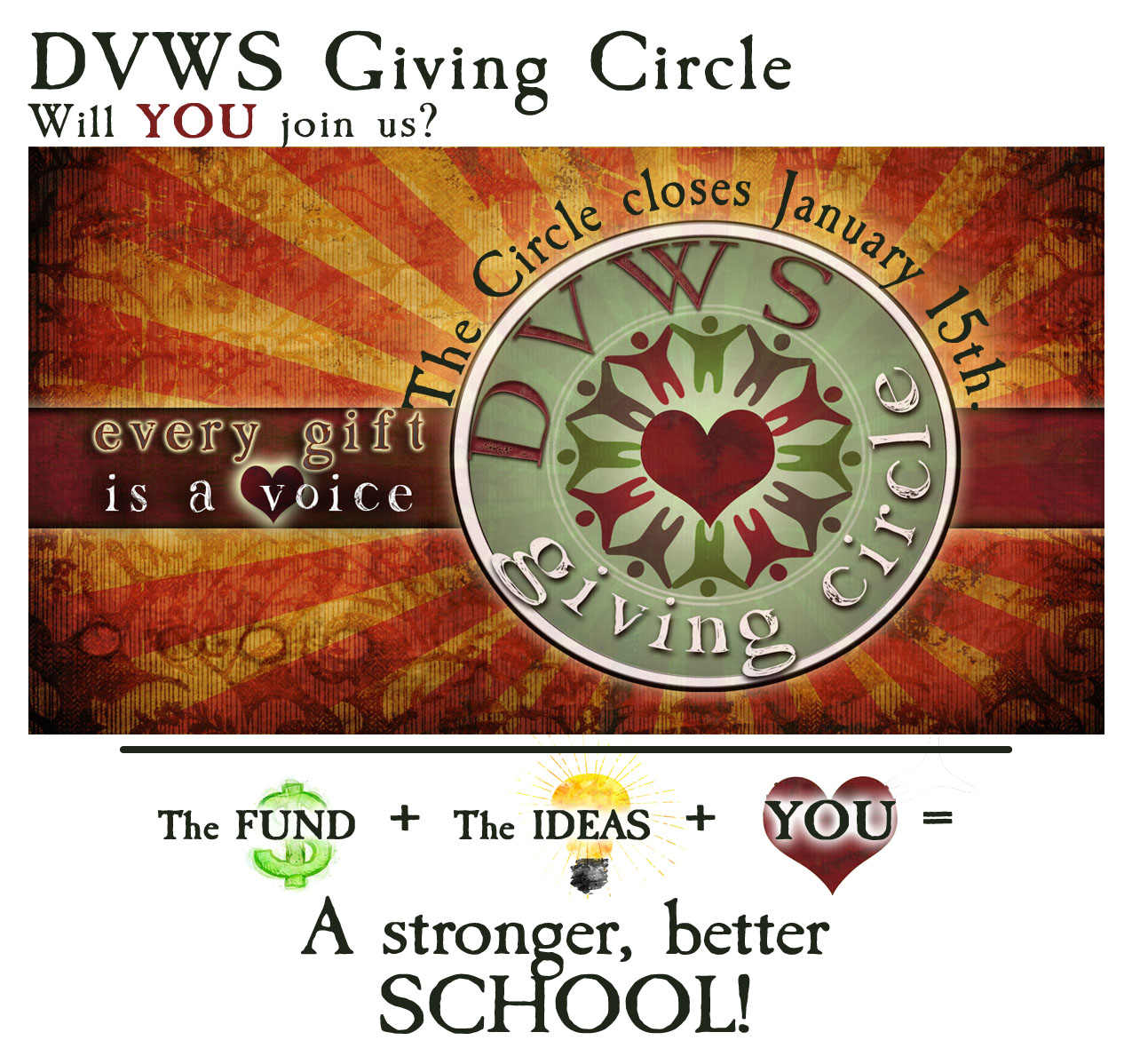 Contact Vinci School: DVWS Giving Circle Vision 1—Do YOU Have A Vision?